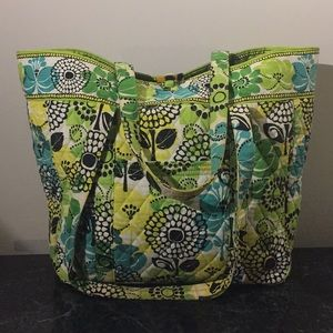 Vera Bradley Large Laptop Tote in Lime's Up